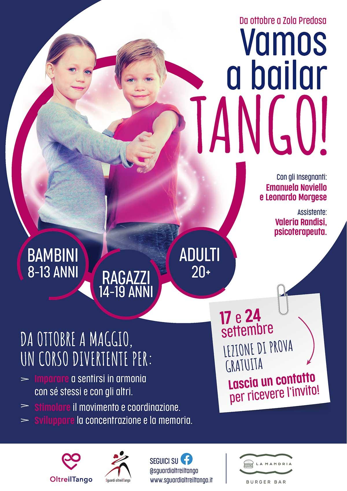locandina oltreiltango - Scuola di tango a Bologna